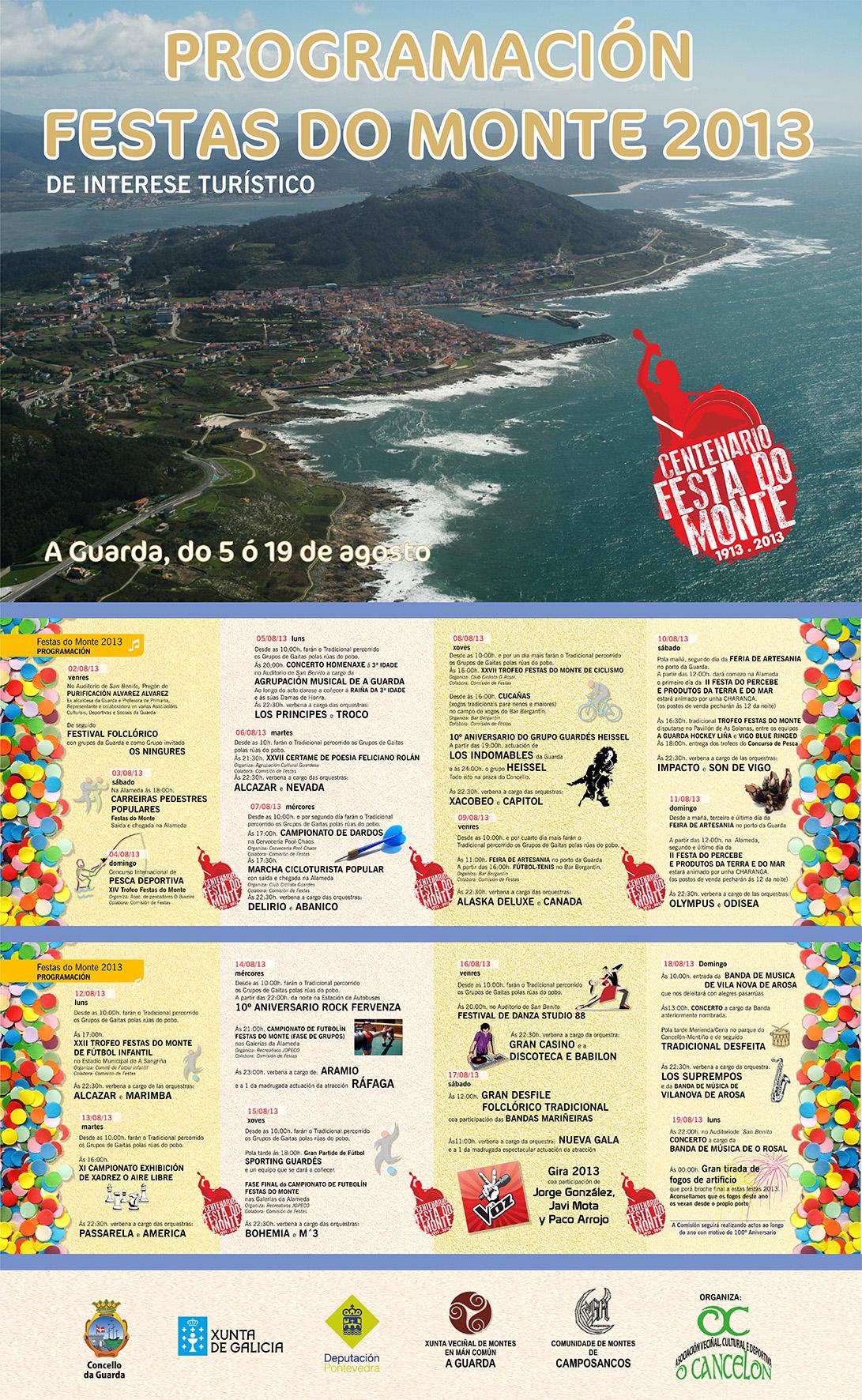 Infominho - PROGRAMACIÓN CENTENARIO FESTAS DO MONTE 2013 DO 5 Ó 19 DE AGOSTO NA GUARDA - INFOMIÑO - Informacion y noticias del Baixo Miño y Alrededores.