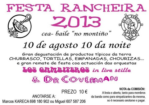 Infominho - FESTA RANCHEIRA 2013 ESTE SÁBADO DÍA 10 DE AGOSTO DE 2013 - INFOMIÑO - Informacion y noticias del Baixo Miño y Alrededores.