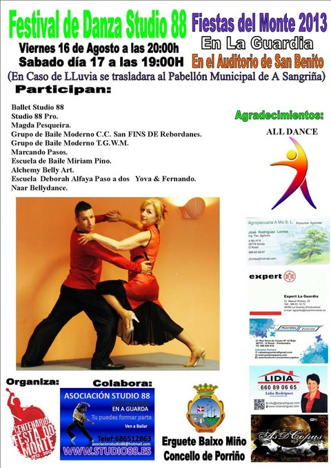Infominho - II FESTIVAL STUDIO 88 FESTAS DO MONTE 2013 - INFOMIÑO - Informacion y noticias del Baixo Miño y Alrededores.