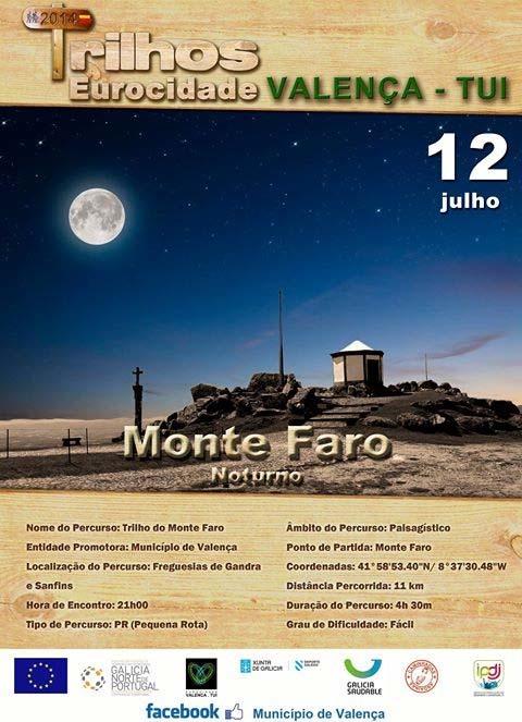 Infominho - TRILHO NOCTURNO MONTE DO FARO O 12 DE JULHO DE 2014 - INFOMIÑO - Informacion y noticias del Baixo Miño y Alrededores.