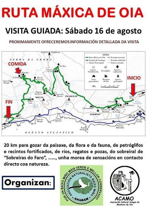 Infominho - VISITA GUIADA POLA RUTA MÁXICA DE OIA O 16 DE AGOSTO - INFOMIÑO - Informacion y noticias del Baixo Miño y Alrededores.