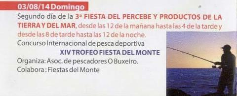 Infominho - PROGRAMACIÓN FESTAS DO MONTE 2014 – DOMINGO 3 DE AGOSTO  - INFOMIÑO - Informacion y noticias del Baixo Miño y Alrededores.