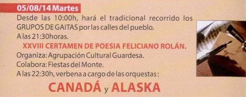 Infominho - PROGRAMACIÓN FESTAS DO MONTE 2014 – MARTES 5 DE AGOSTO  - INFOMIÑO - Informacion y noticias del Baixo Miño y Alrededores.