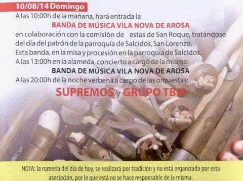 Infominho - PROGRAMACIÓN FESTAS DO MONTE 2014 – DOMINGO 10 DE AGOSTO  - INFOMIÑO - Informacion y noticias del Baixo Miño y Alrededores.