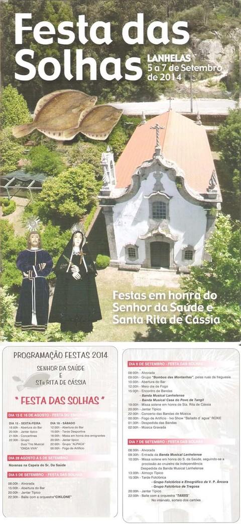 Infominho -  PROGRAMACI�N FESTA DAS SOLHAS 2014 DO 5 � 7 DE SETEMBRO EN CAMINHA - INFOMI�O - Informacion y noticias del Baixo Mi�o y Alrededores.