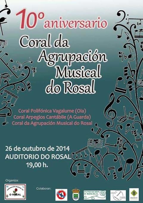 Infominho -  CONCERTO X ANIVERSARIO DA CORAL DA AGRUPACI�N MUSICAL DO ROSAL - INFOMI�O - Informacion y noticias del Baixo Mi�o y Alrededores.