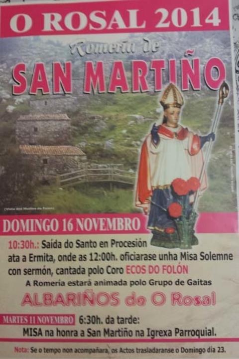 Infominho -  ROMER�A DE SAN MARTI�O 2014 O 23 DE NOVEMBRO DE 2014 NO ROSAL - INFOMI�O - Informacion y noticias del Baixo Mi�o y Alrededores.