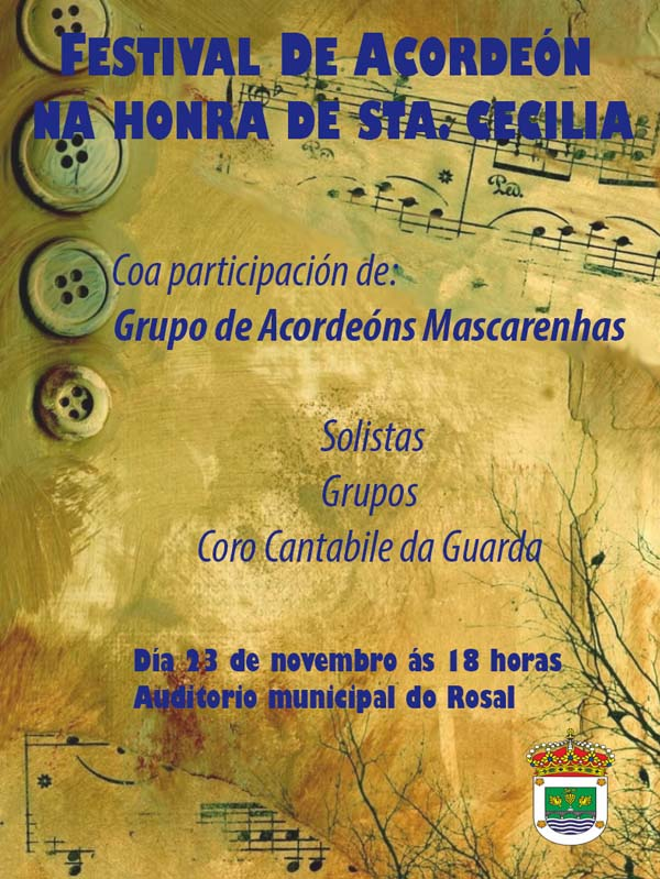 Infominho -  FESTIVAL DE ACORDE�N NA HONRA DE STA. CECILIA O 23 DE NOVEMBRO NO ROSAL - INFOMI�O - Informacion y noticias del Baixo Mi�o y Alrededores.