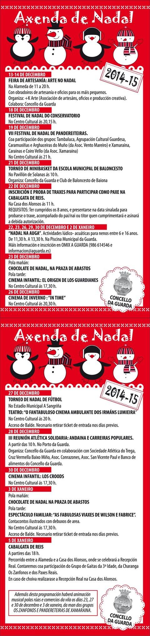Infominho -  ARRANCA A PROGRAMACI�N DE NADAL NA GUARDA CUN FESTIVAL DE PANDERETEIRAS - INFOMI�O - Informacion y noticias del Baixo Mi�o y Alrededores.