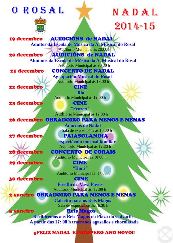 Infominho -  PROGRAMACI�N DE NADAL 2014 NO CONCELLO DO ROSAL - INFOMI�O - Informacion y noticias del Baixo Mi�o y Alrededores.