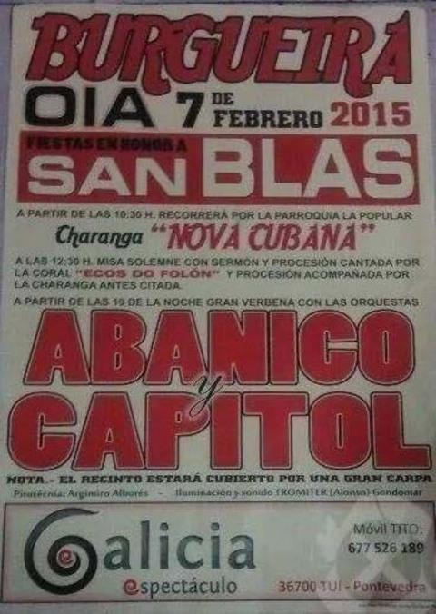 Infominho -  FESTAS EN HONOR A SAN BLAS O 7 DE FEBREIRO EN BURGUEIRA-OIA - INFOMI�O - Informacion y noticias del Baixo Mi�o y Alrededores.