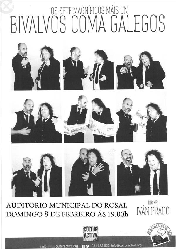 Infominho -  OS SETE MAGN�FICOS MAIS UN PRESENTAN -BIVALVOS COMA GALEGOS- O 8 DE FEBREIRO NO ROSAL - INFOMI�O - Informacion y noticias del Baixo Mi�o y Alrededores.