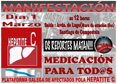 Infominho -  MANIFESTACI�N DA PLATAFORMA GALEGA DE AFECTADOS POLA HEPATITE C ESTE DOMINGO - INFOMI�O - Informacion y noticias del Baixo Mi�o y Alrededores.
