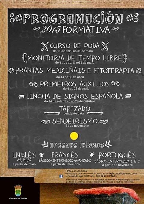 Infominho -  PROGRAMACI�N FORMATIVA 2015 NA OMIX DE TOMI�O - INFOMI�O - Informacion y noticias del Baixo Mi�o y Alrededores.