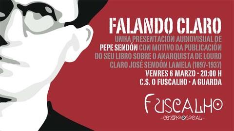 Infominho -  APRESENSENTA�OM AUDIOVISUAL DE FALANDO CLARO O D�A 6 NO CS FUSCALHO DE A GUARDA - INFOMI�O - Informacion y noticias del Baixo Mi�o y Alrededores.