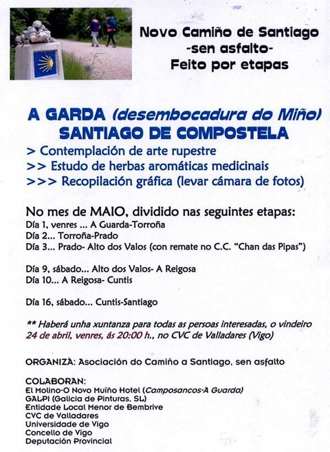 Infominho - CAMIÑO DE SANTIAGO SEN ASFALTO POR ETAPAS - INFOMIÑO - Informacion y noticias del Baixo Miño y Alrededores.
