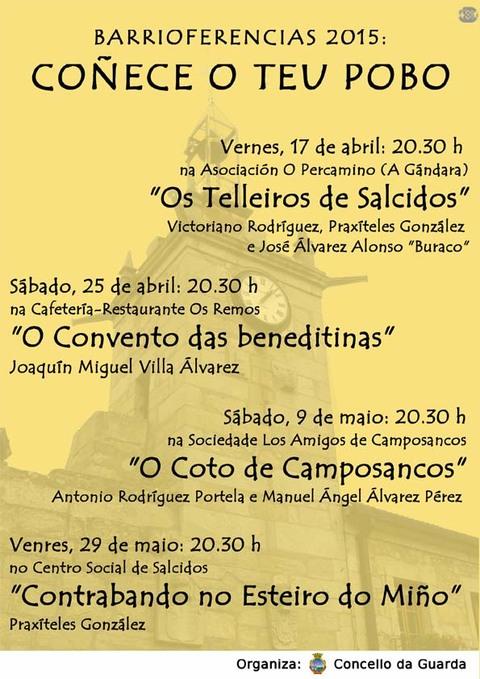 Infominho -  HOXE COMEZAN AS BARRIOFERENCIAS COA CHARLA -OS TELLEIROS DE SALCIDOS- - INFOMI�O - Informacion y noticias del Baixo Mi�o y Alrededores.