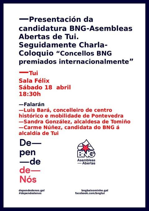 Infominho -  O BNG-ASEMBLEAS ABERTAS DE TUI PRESENTAR� A S�A CANDIDATURA ESTE S�BADO - INFOMI�O - Informacion y noticias del Baixo Mi�o y Alrededores.