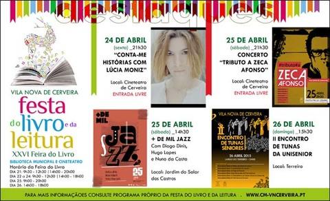 Infominho -  CERVEIRA VIVE FESTA DO LIVRO E DA LEITURA DURANTE SEIS DIAS - INFOMI�O - Informacion y noticias del Baixo Mi�o y Alrededores.