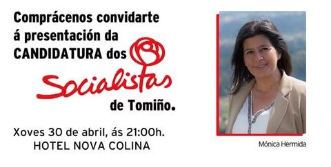 Infominho -  PRESENTACI�N DA LISTA ELECTORAL DO PsdG-PSOE DE TOMI�O - INFOMI�O - Informacion y noticias del Baixo Mi�o y Alrededores.