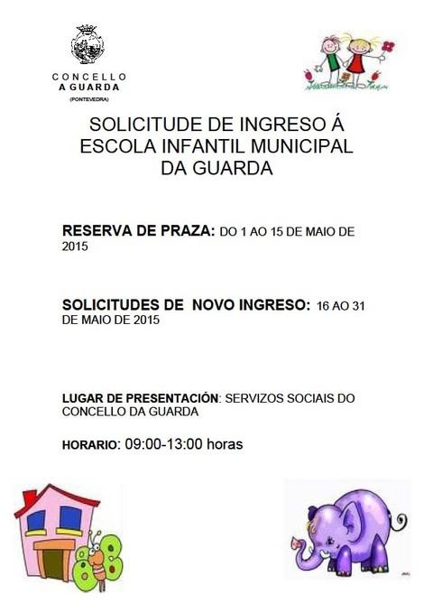Infominho -  A ESCOLA INFANTIL MUNICIPAL DA GUARDA ABRE O PRAZO PARA A  RESERVA DE PRAZAS PARA O PR�XIMO CURSO - INFOMI�O - Informacion y noticias del Baixo Mi�o y Alrededores.