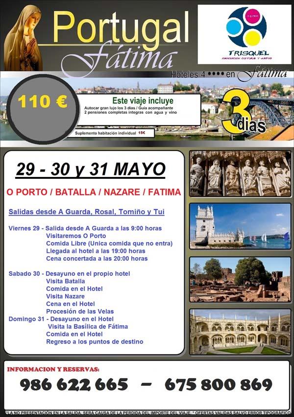 Infominho -  A ASOCIACI�N TRISQUEL ORGANIZA UNHA VIAXE A F�TIMA DO 29 � 31 DE MAIO - INFOMI�O - Informacion y noticias del Baixo Mi�o y Alrededores.