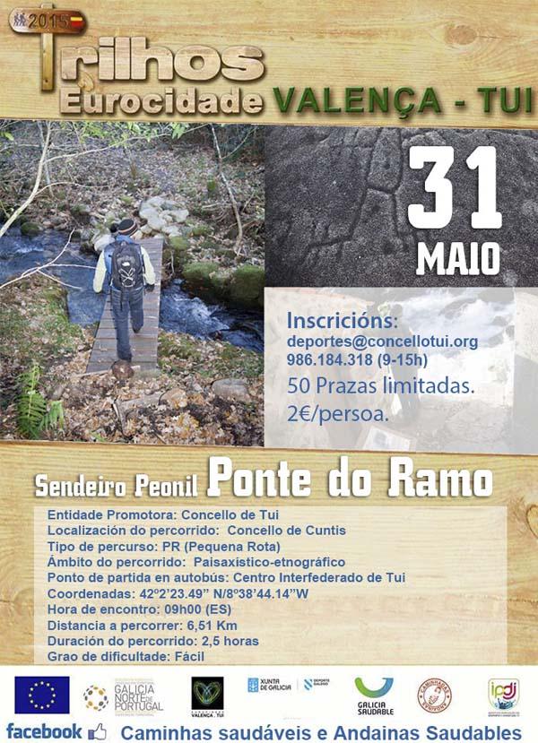 Infominho -  O DOMINGO 31 DE MAIO CELEBRARASE A ANDAINA SAUDABLE POLO SENDEIRO PEONIL -PONTE DO RAMO- EN CUNTIS - INFOMI�O - Informacion y noticias del Baixo Mi�o y Alrededores.