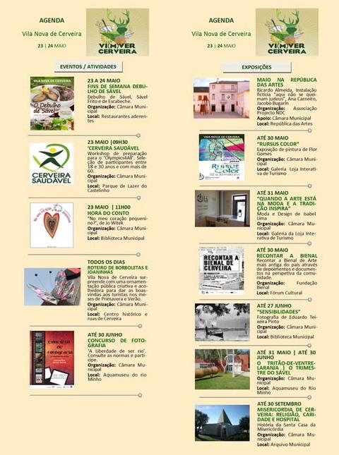 Infominho -  AGENDA SEMANAL VILANOVA DE CERVEIRA 23-24 MAIO 2015 - INFOMI�O - Informacion y noticias del Baixo Mi�o y Alrededores.