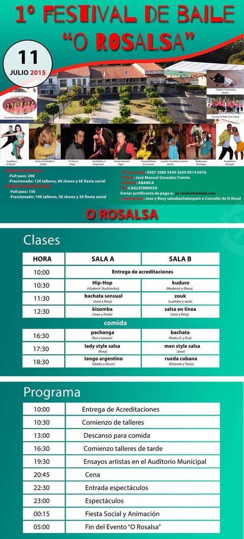 Infominho -  I FESTIVAL DE BAILE -O ROSALSA- EL 11 DE JULIO - INFOMI�O - Informacion y noticias del Baixo Mi�o y Alrededores.