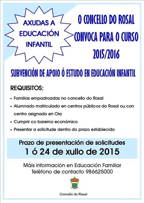 Infominho -   O CONCELLO DO ROSAL CONVOCA SUBVENCI�N DE APOIO � ESTUDO EN EDUCACION INFANTIL - INFOMI�O - Informacion y noticias del Baixo Mi�o y Alrededores.