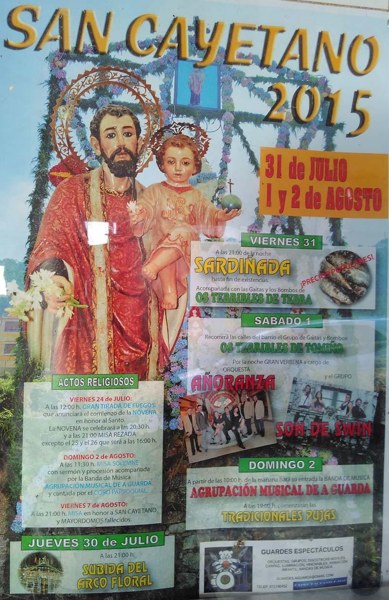 Infominho -  FESTAS DE SAN CAYETANO 2015 DO 31 DE XULLO � 2 DE AGOSTO NA GUARDA - INFOMI�O - Informacion y noticias del Baixo Mi�o y Alrededores.
