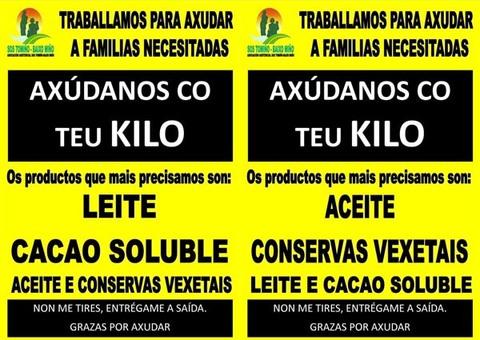 Infominho -  SOS TOMI�O PON EN MARCHA UNHA CAMPA�A DE RECOLLIDA DE ALIMENTOS EN TUI E TOMI�O - INFOMI�O - Informacion y noticias del Baixo Mi�o y Alrededores.