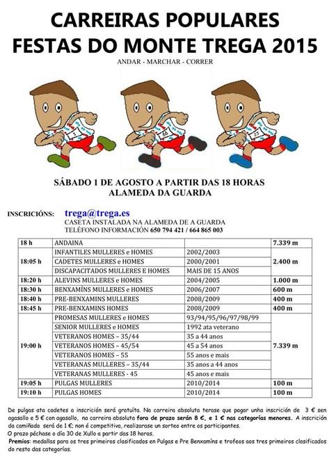 Infominho - CARREIRAS POPULARES FESTAS DO MONTE TREGA 2015 ANDAR - MARCHAR - CORRER - INFOMIÑO - Informacion y noticias del Baixo Miño y Alrededores.