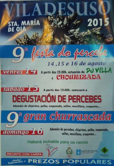 Infominho -  IX FESTA DO PERCEBE E IX GRAN CHURRASCADA EN VILADESUSO-OIA - INFOMI�O - Informacion y noticias del Baixo Mi�o y Alrededores.