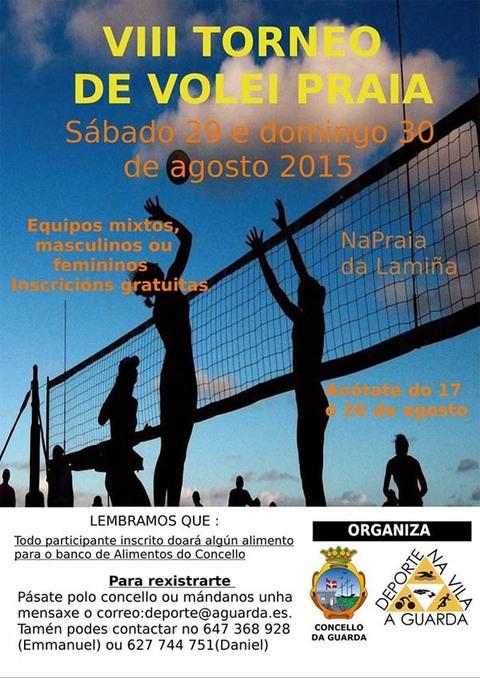 Infominho -  VIII TORNEO DE VOLEI PRAIA O 29 DE AGOSTO NA GUARDA - INFOMI�O - Informacion y noticias del Baixo Mi�o y Alrededores.