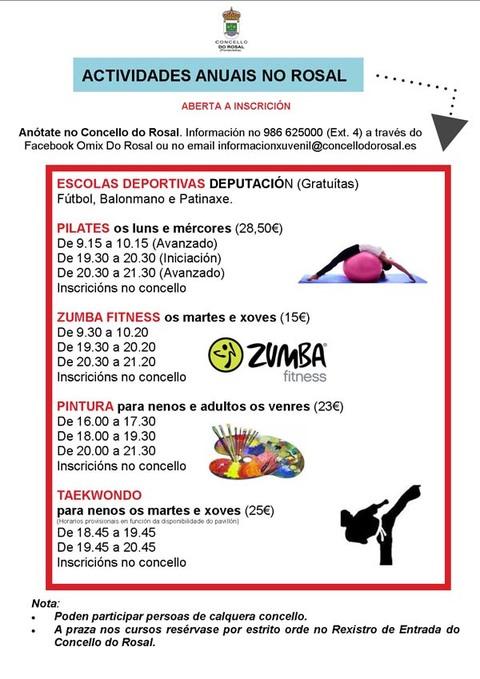 Infominho -  ABERTAS AS INSCRIPCI�NS PARA AS ACTIVIDADES ANUAIS 2015 NO ROSAL - INFOMI�O - Informacion y noticias del Baixo Mi�o y Alrededores.