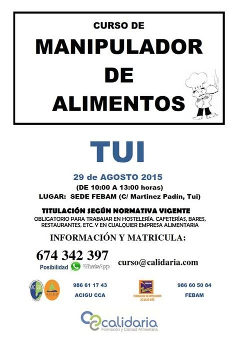 Infominho -  FEBAM OFRECE CURSOS DE MANIPULADOR DE ALIMENTOS EL 29 DE AGOSTO EN TUI - INFOMI�O - Informacion y noticias del Baixo Mi�o y Alrededores.