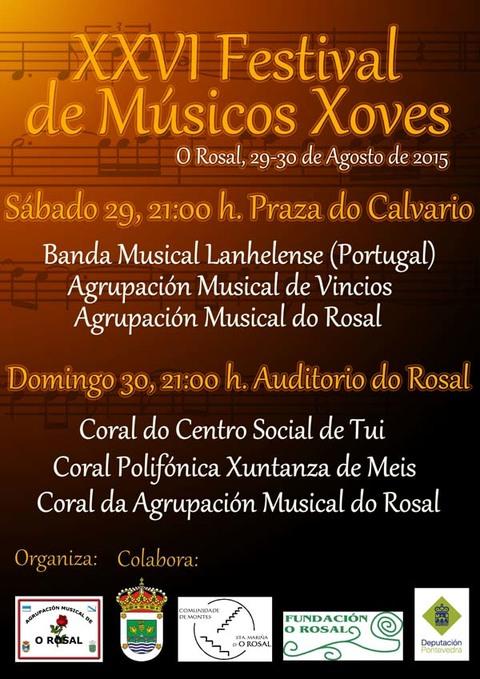 Infominho -  XXVI FESTIVAL DE M�SICOS XOVES ESTA FIN DE SEMANA NO ROSAL - INFOMI�O - Informacion y noticias del Baixo Mi�o y Alrededores.
