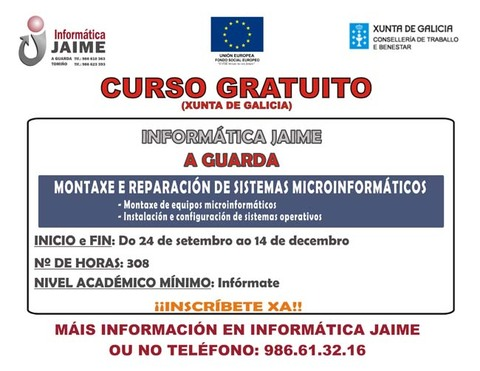 Infominho -  CURSO GRATUITO MONTAXE E REPARACI�N DE SISTEMAS MICROINFORM�TICOS - INFOMI�O - Informacion y noticias del Baixo Mi�o y Alrededores.