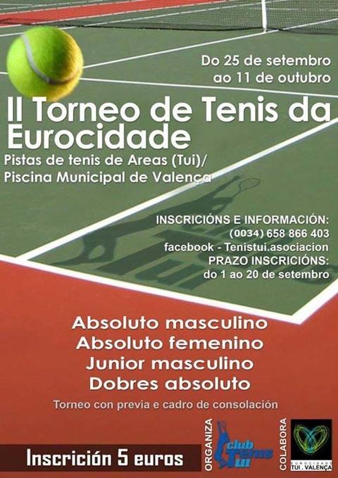 Infominho -  II TORNEO DE TENIS EUROCIDADE - INFOMI�O - Informacion y noticias del Baixo Mi�o y Alrededores.