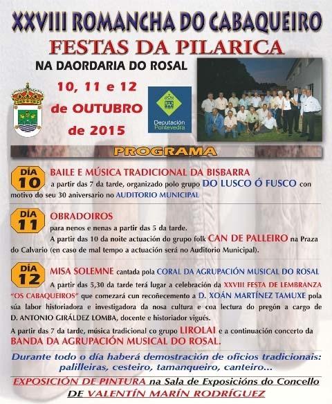 Infominho -  XXVIII ROMANCHA DO CABAQUEIRO E FESTAS DA PILARICA DO 10 � 12 DE OUTUBRO NO ROSAL - INFOMI�O - Informacion y noticias del Baixo Mi�o y Alrededores.