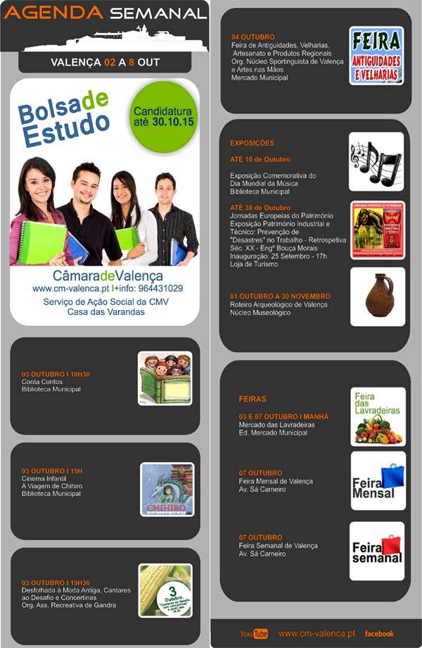 Infominho -  AGENDA SEMANAL VALENCA DO MINHO 2-8 OUTUBRO 2015 - INFOMI�O - Informacion y noticias del Baixo Mi�o y Alrededores.