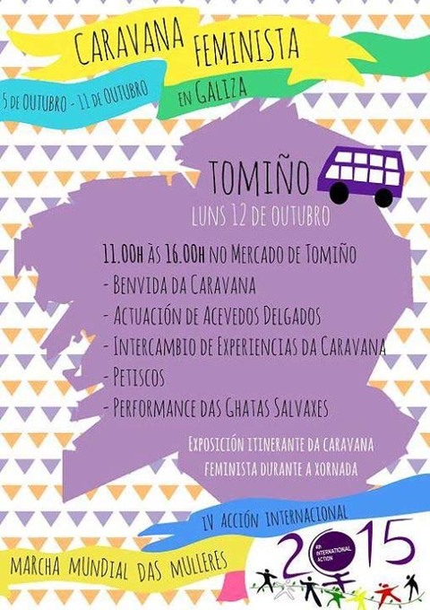 Infominho -  A CARAVANA FEMINISTA CHEGA A TOMI�O O LUNS 12 DE OUTUBRO - INFOMI�O - Informacion y noticias del Baixo Mi�o y Alrededores.