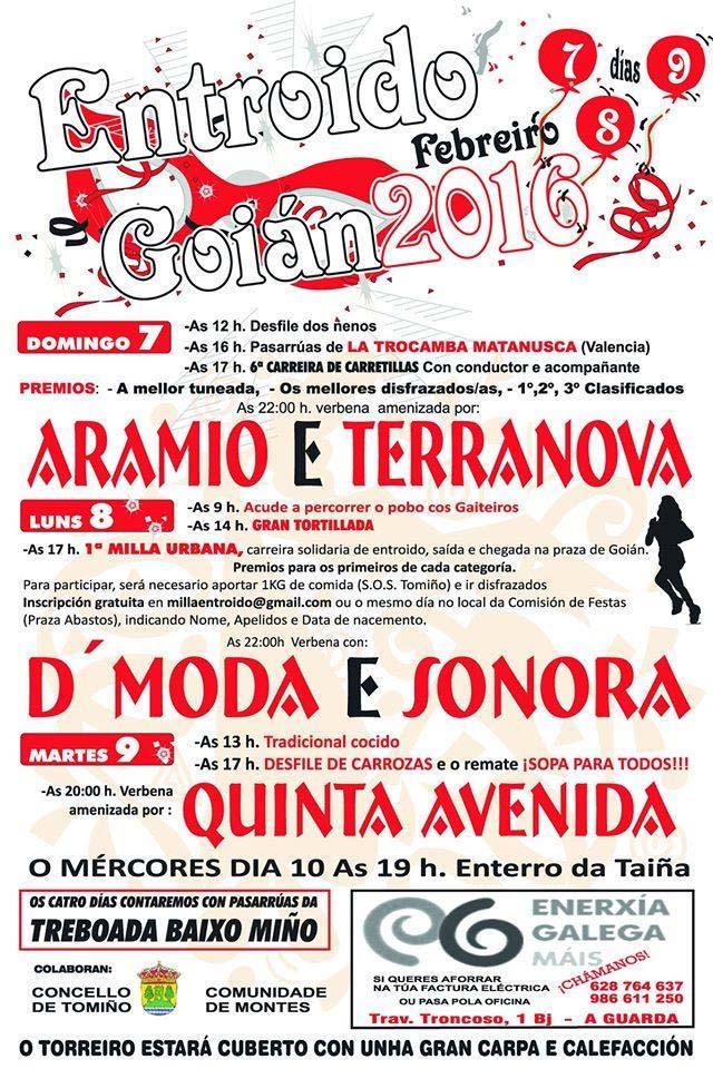 Infominho -  GOI�N FESTEXA O ENTROIDO OS D�AS 7, 8 E 9 DE FEBREIRO DE 2016 - INFOMI�O - Informacion y noticias del Baixo Mi�o y Alrededores.