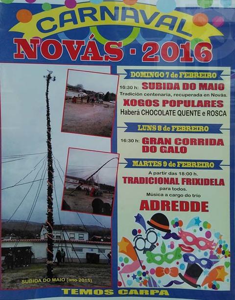 Infominho -  CARNAVAL NOV�S 2016 DO 7 � 9 DE FEBREIRO - INFOMI�O - Informacion y noticias del Baixo Mi�o y Alrededores.