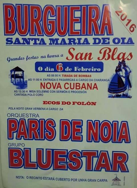 Infominho -  GRANDES FESTAS NA HONRA A SAN BLAS O 6 DE FEBREIRO EN BURGUEIRA - OIA - INFOMI�O - Informacion y noticias del Baixo Mi�o y Alrededores.