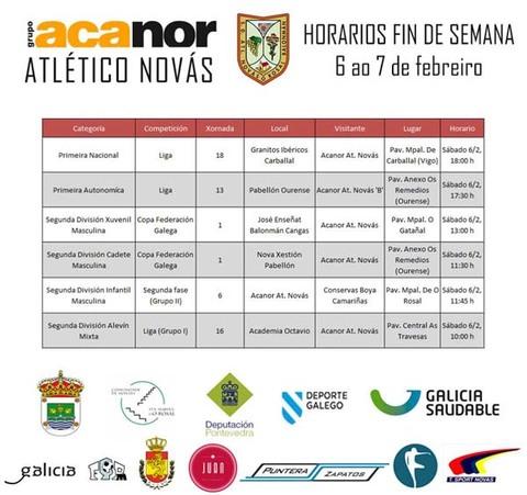 Infominho -  PARTIDOS DO ACANOR ATL NOV�S  PARA ESTA FIN DE SEMANA - INFOMI�O - Informacion y noticias del Baixo Mi�o y Alrededores.