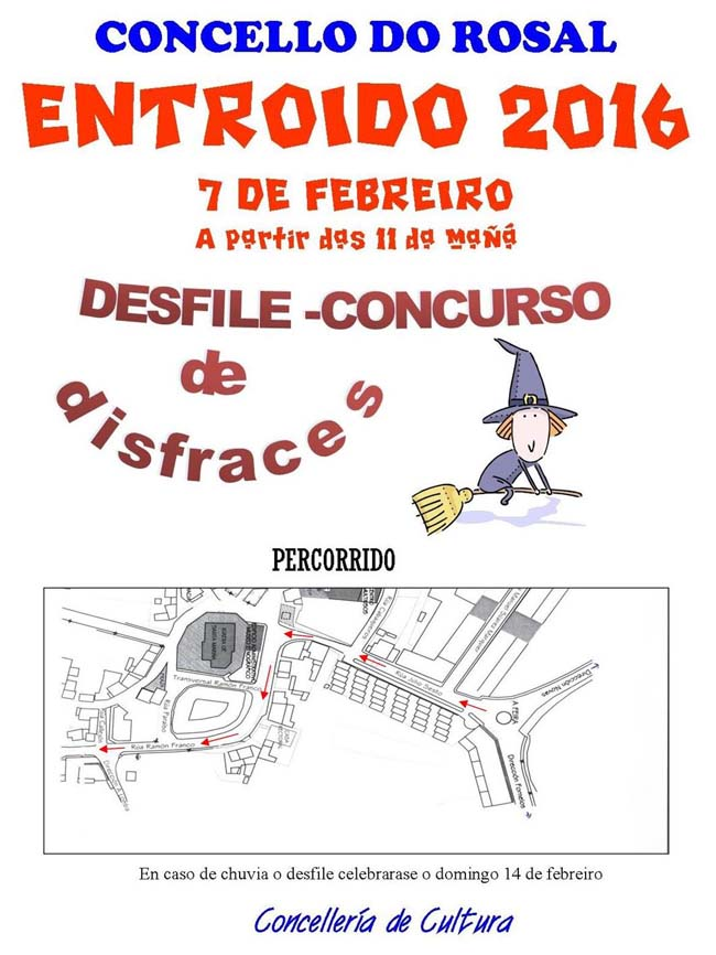Infominho -  -APRAZADO- PERCORRIDO DO DESFILE-CONCURSO DE ENTROIDO O 7 DE FEBREIRO NO ROSAL - INFOMI�O - Informacion y noticias del Baixo Mi�o y Alrededores.