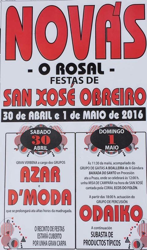 Infominho -  FESTAS DE SAN XOS� OBREIRO DO 30 DE ABRIL � 1 DE MAIO EN NOV�S-O ROSAL - INFOMI�O - Informacion y noticias del Baixo Mi�o y Alrededores.