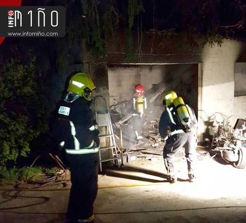 Infominho -  UN INCENDIO CALCINA UN GARAXE EN TOMI�O - INFOMI�O - Informacion y noticias del Baixo Mi�o y Alrededores.